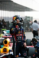 Qualifying _ Sebastian Vettel GER, Red Bull Racing, F1, Indian Grand Prix, New Delhi, India