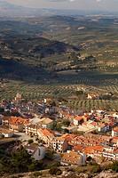 Burunchel, El Parque Natural de las Sierras de Cazorla, Segura y Las Villas, Jaen Province, Andalusia, southern Spain. Olive groves behind.