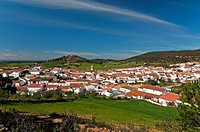 Panoramic view, El Almendro, Huelva-province, Spain,