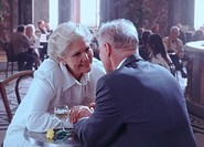 Elderly Couple in Romantic Restaurant