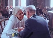 Elderly Couple in Romantic Restaurant