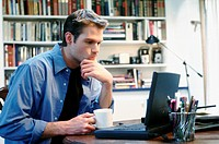 Indecisive Businessman Working From Home