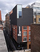 Photographers´ Gallery, London, United Kingdom. Architect O´Donnell and Tuomey and ADP, 2012. General elevated view of building facade.