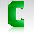 green letter C folded paper