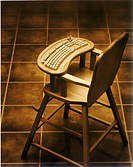 Keyboard on a highchair
