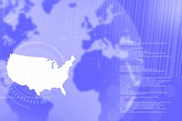 Background Composite USA World Map Trade Communication Technology