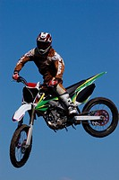 Motocross Bike Rider In The Air
