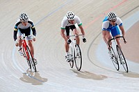Cyclists Competing On Racing_Tack