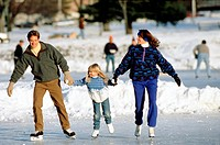Family ice_skating