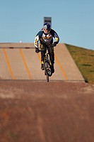 BMX Biker Jumping, Mid_Air