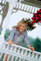 Woman on the verandah