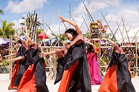The native women celebrate victory and the death of Magellan at the Battle of Mactan reenactment or Kadaugan Festival  The Battle of Mactan was fought...