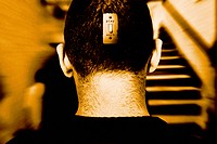 Switch on Back of Man´s Head