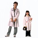 Girl Dressing Up for Medical Career