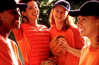 Female softball players