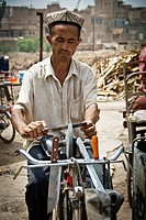 Blacksmith in Kashgar, Xinjiang Province, China
