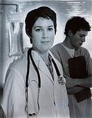 Doctor Wearing Lab Coat and Stethoscope