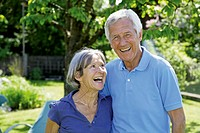 Germany, Bavaria, Senior couple smiling