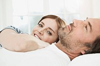 Germany, Berlin, Mature couple relaxing
