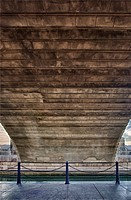 USA, Arizona, Lake Havasu, underneath of historic London Bridge