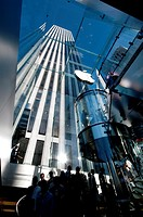 United States, New York City, Manhattan, Apple store on the 5th Avenue