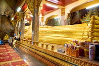Thailand - Khao Yoi Buddhist Cave Temple, Big Reclining Buddha statues inside