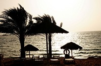 Beach of Aqaba, Red Sea, Jordan, Middle East.