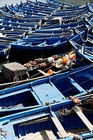 Fishing boats in the port of Essaouira, region of Marrakech-Tensift-Al Haouz, Morocco, Maghreb, Africa