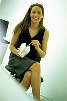 Office Worker Eating Chinese Takeout