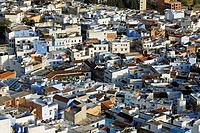 View of Chefchaouen or Chaouen, Tangier-Tetouan, Morocco, North Africa, Maghreb, Africa