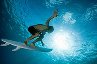 surfing underwater