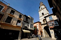 Clock tower in a peatonal street of Toro, Zamora, Spain