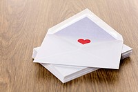 Red heart in an envelope
