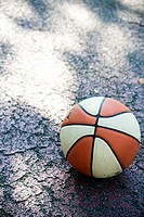 Basketball lying on the ground