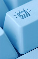 Monitor Button on Computer Keyboard