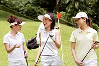 Young Woman Golfers