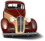 Vectorial image of vintage car. Contains gradients and blends