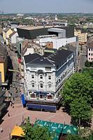D-Dortmund, Ruhr area, Westphalia, North Rhine-Westphalia, NRW, city view, aerial view, town centre, Platz von Leeds, Leeds square, Brueck street, con...