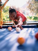 Man Playing Billiards