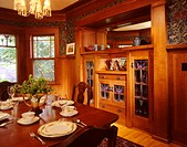 traditional wood dining room