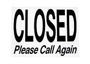Closed sign, includes clipping path