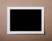Vintage blank photograph frame with copy space