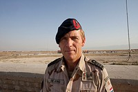 Colonel Jarst de Jong, commander of the dutch military in Kunduz, Afghanistan