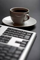 cup of coffee and keyboard