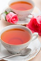 elegant tea and roses
