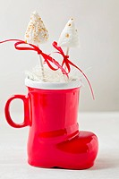 Cake pops in Santa Christmas boot
