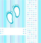 baby boy announcement card background. vector illustration