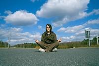 Teenage Boy Meditating