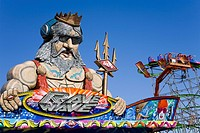 Sculpture at an amusement park, Orange County Fair, Costa Mesa, Orange County, California, USA