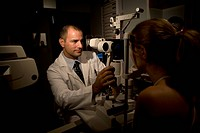 Ophthalmologist Giving an Eye Exam